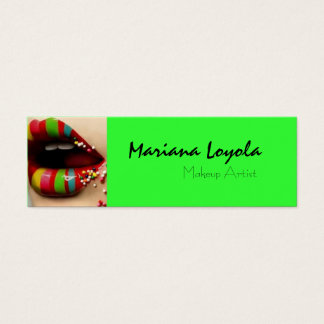 multicolor makeup cartão de visitas mini