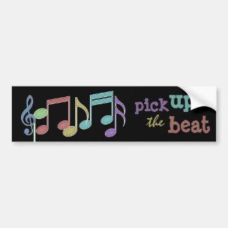 Multicolorido linear das notas musicais PEGARA a Adesivo Para Carro