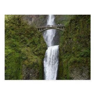 Multnomah cai cartão da cachoeira cartão postal