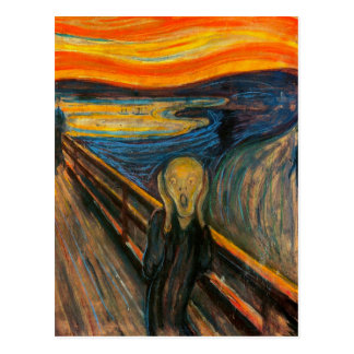 Munch o cartão do gritar