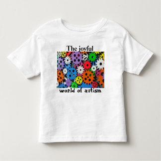 Mundo alegre das engrenagens coloridas da camisa