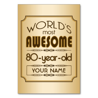 Mundo da celebração do aniversário do 80 do ouro m cartão