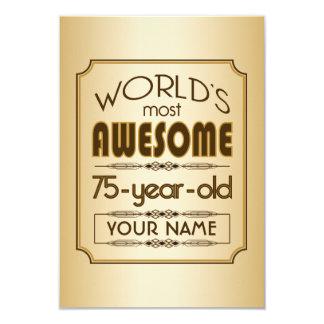 Mundo da celebração do aniversário do ouro 75th