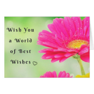 Mundo do cartão da flor dos cumprimentos
