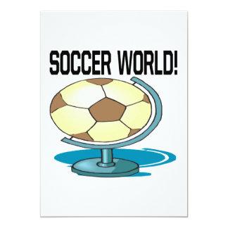 Mundo do futebol convite 12.7 x 17.78cm
