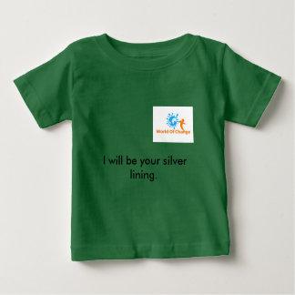 """Mundo do t-shirt """"fresta de esperança """" da mudança camiseta para bebê"""