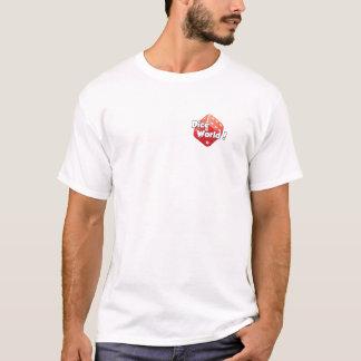 Mundo dos dados! O t-shirt dos homens Camiseta