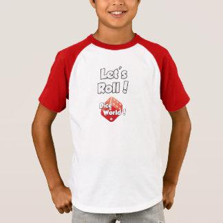 Mundo dos dados! T-shirt dos miúdos Camiseta