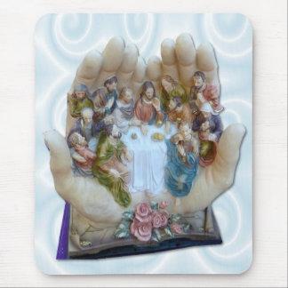 Mundo inteiro em suas mãos - Jesus a última ceia Mouse Pad