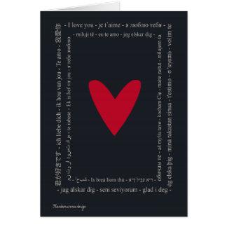 Mundo no amor - feliz dia dos namorados cartão comemorativo