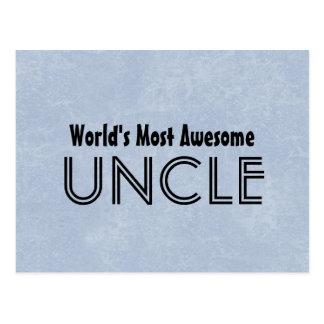 Mundos a maioria de tio impressionante Azul Grunge Cartão Postal