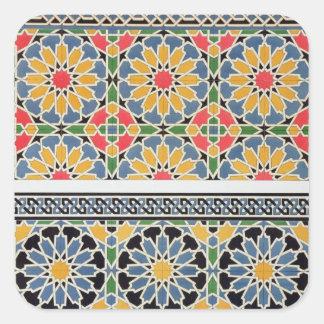 Mure azulejos do mihrab da mesquita de Cheykh Adesivo Quadrado
