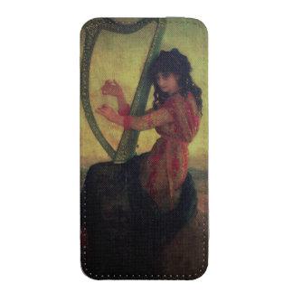 Musa que joga a harpa bolsa de celular