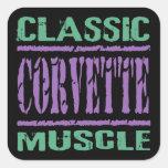 Músculo clássico de Corveta Adesivos Quadrados