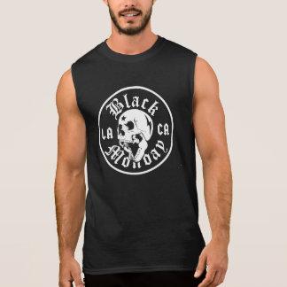 Músculo preto T da boliche de segunda-feira Camisa Sem Mangas