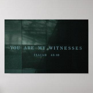 Museu do holocausto de Isaiah 43,10 das testemunha Poster
