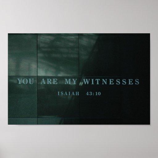 Museu do holocausto de Isaiah 43,10 das testemunha Posters