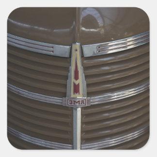 Museu do motor de Latvia Riga Riga ornamento da Adesivos Quadrados