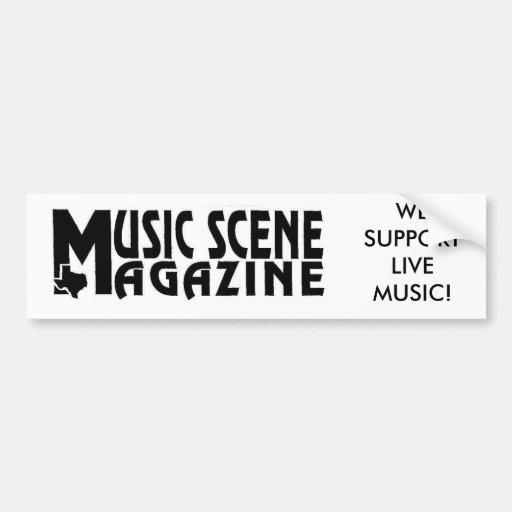 MUSIC-SCENE-LOGO, NÓS APOIAMOS A MÚSICA AO VIVO! ADESIVO