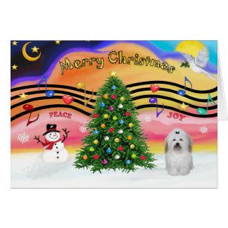 Música 2 do Natal - algodão de Tuledar (arco) Cartão Comemorativo