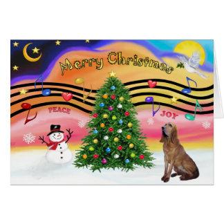 Música 2 do Natal - Bloodhound Cartão Comemorativo