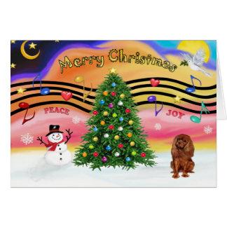 Música 2 do Natal - Cavalier (rubi) Cartao