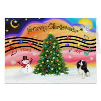 Música 2 do Natal - Cavalier (tri) Cartão Comemorativo