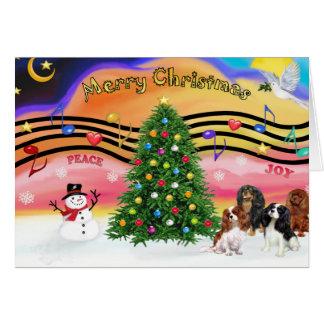 Música 2 do Natal - Cavaliers (quatro) Cartao