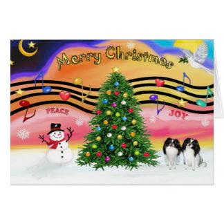 Música 2 do Natal - japonês Chin (dois) Cartoes