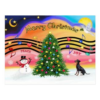 Música 2 do Natal - Manchester Terrier Cartão Postal