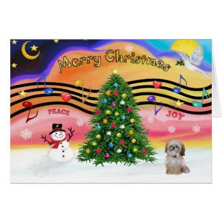 Música 2 do Natal - tzu de Shih (P) Cartão