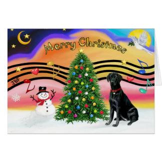Música 2-Labrador #1 do Natal Cartão Comemorativo
