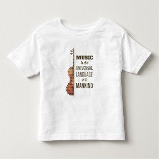 Música a camisa da língua universal  