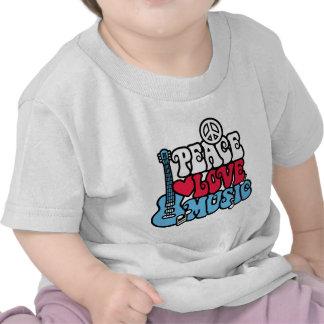 Música americana do amor da paz t-shirt