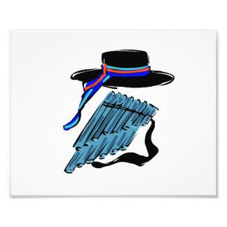 música azul design png da fita da flauta da bandej fotografia