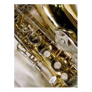 Música bonita--Saxofone Cartão Postal