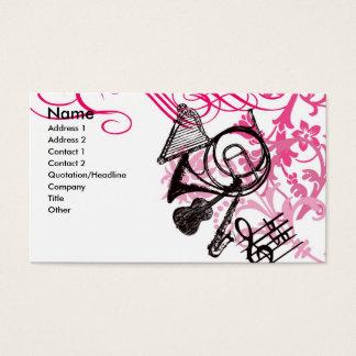 música cartão de visitas