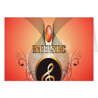 Música, clef cartões