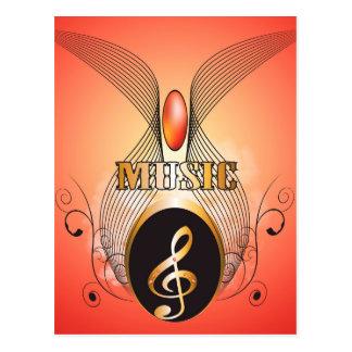Música, clef cartoes postais