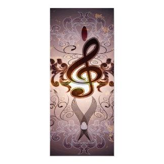 Música, Clef com design floral elegante