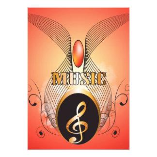 Música, clef convite
