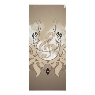 Música, clef convites