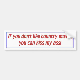Música country adesivo para carro