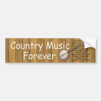 Música country do T para sempre Adesivo Para Carro