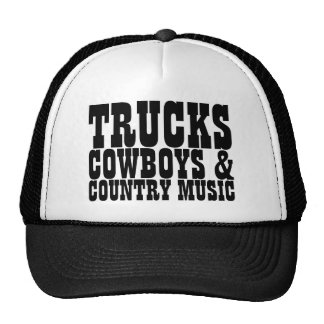 Música country dos vaqueiros dos caminhões boné