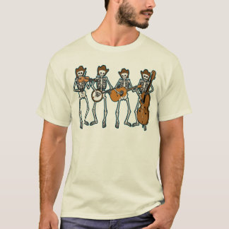 Música country que joga os esqueletos camiseta