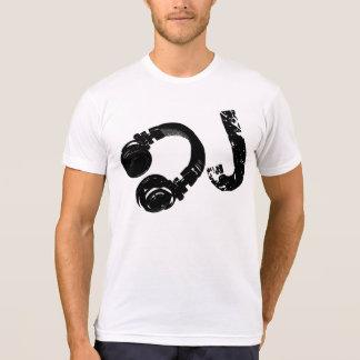 música d.j./auscultadores do DJ Tshirt