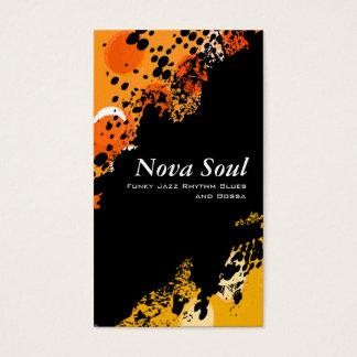 Música da alma da nova cartão de visitas