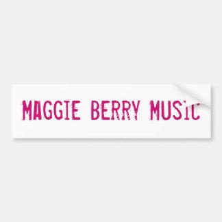 Música da baga de Maggie Adesivo
