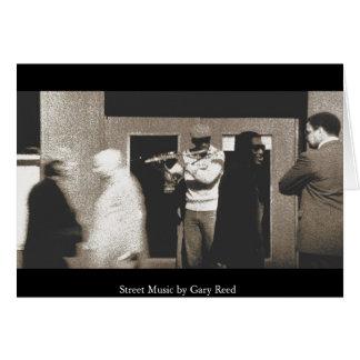 Música da rua cartão comemorativo